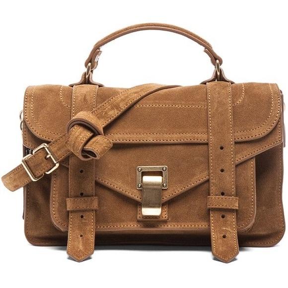 Proenza Schouler Handbags - Proenza Schouler ps1 tiny suede bag color tobacco